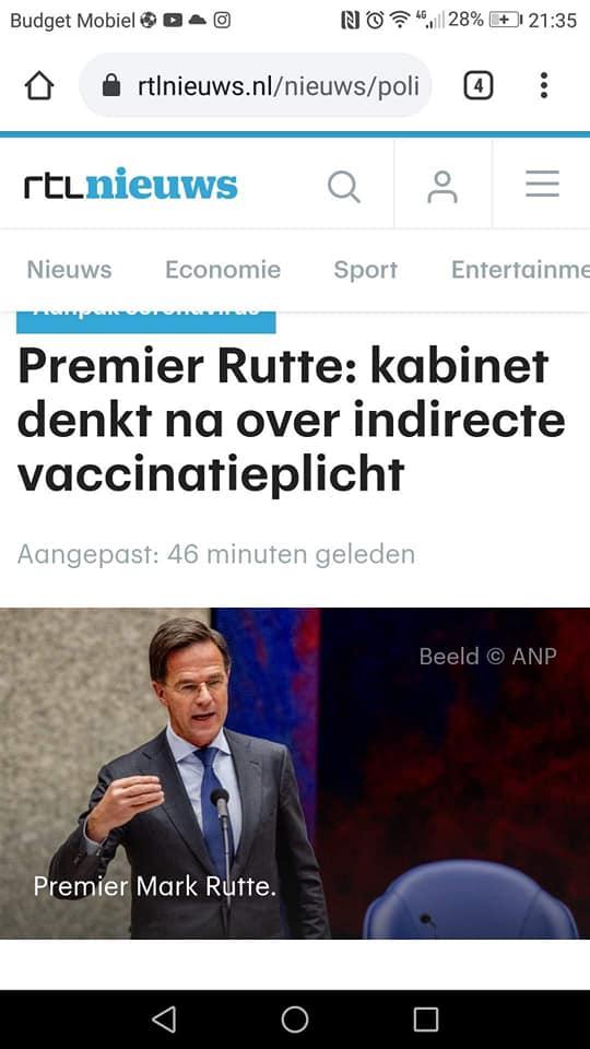 Vaccinatieplicht is dit Nederland?!!!!!!??¿¿¿¿!