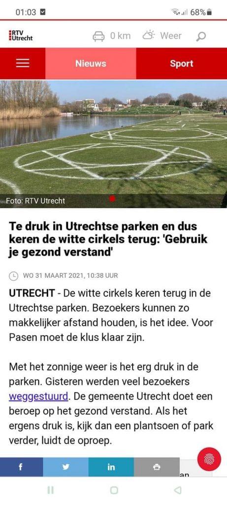 In Utrecht moet je in een heksencirkel gaan zitten!